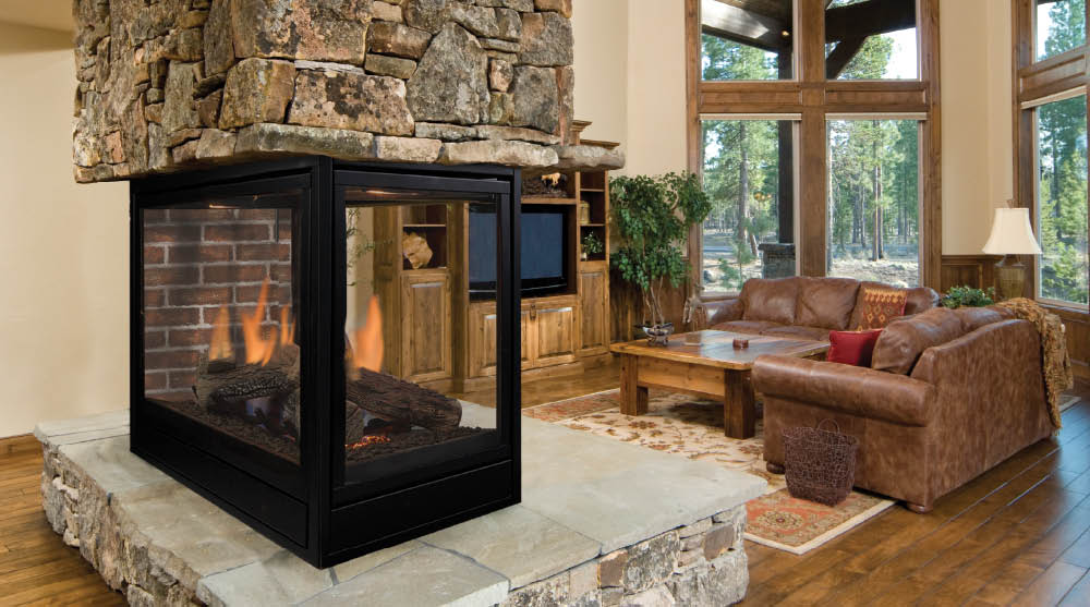 Pellet gas and wood stoves north winds stove fireplace for 4 sided fireplace